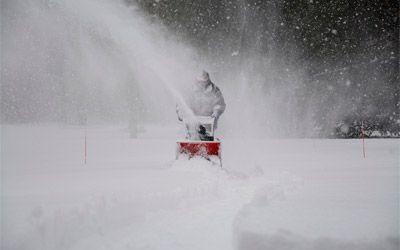 battery powered snow blowers min: photo