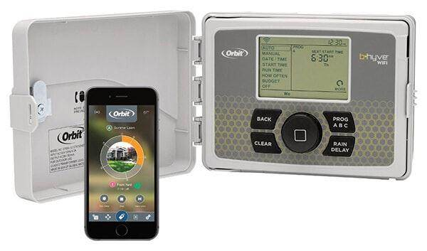 Orbit 57946 B-hyve Indoor/Outdoor 6-Station Smart WiFi Sprinkler System Controller