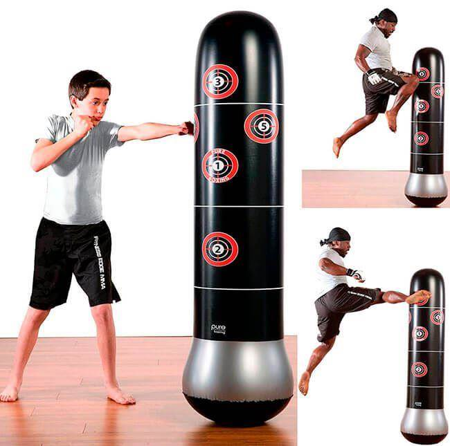 Inflatable free-standing punching bag