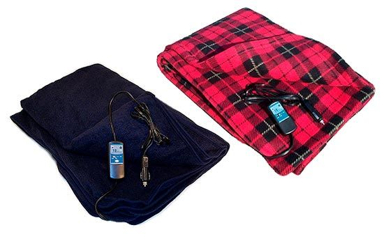 Portable Electric 12 Volt Heated Travel Blanket