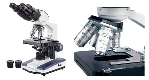 LED Biological Binocular Compound Microscope: photo
