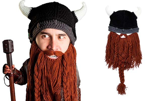 Beard Head Barbarian Pillager Beanie: photo