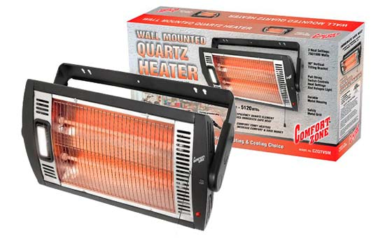 Comfort Zone Ceiling Mount Quartz Heater