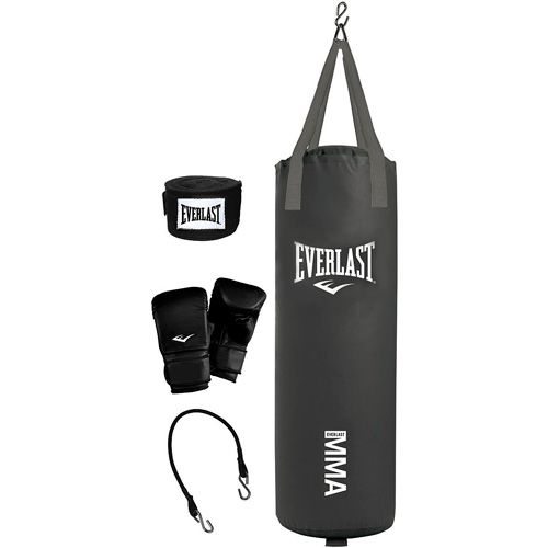 A Hanging Heavy Punching Bag To Work On Punches Everlast 70 Pound Mma Kit