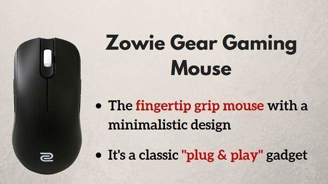 gaming Zowie Gear mouse