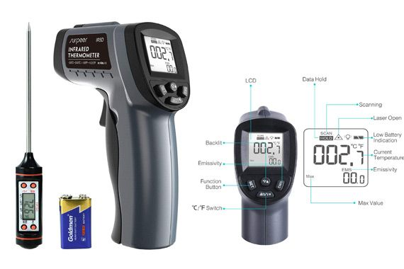 Infrared Thermometer SURPEER: photo