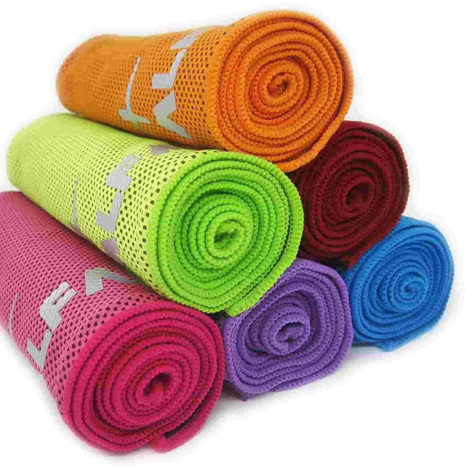 Cooling towel for yoga