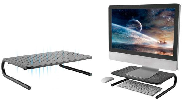 Monitor Stand Riser with Vented Metal: photo