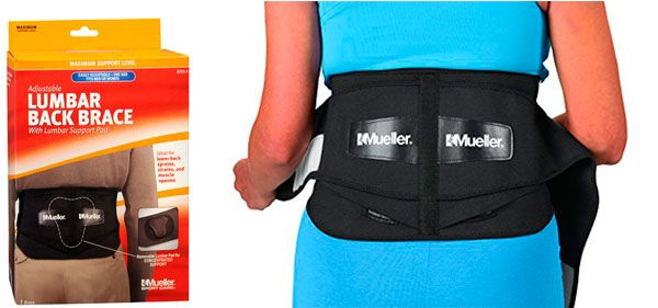 Mueller Lumbar Support Back Brace: photo