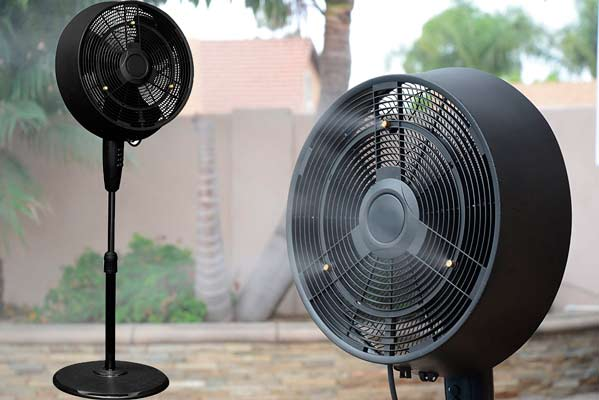 Stylish Outdoor Misting Fan: photo