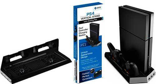 Ortz PS4 Vertical Stand with Cooling Fan