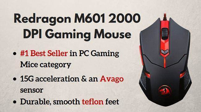 gaming mouse Redragon M601 CENTROPHORUS-2000 DPI