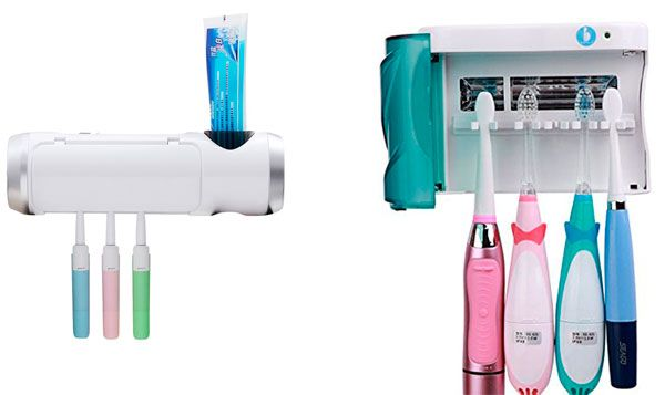 UV Toothbrush Holder Wall Mount Sanitizers: photo