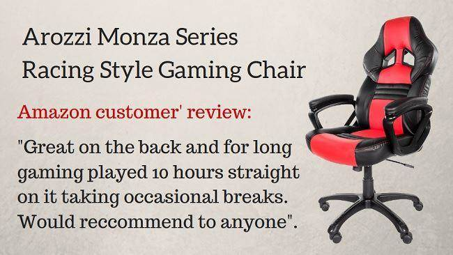 Arozzi Monza Series Gaming Racing Style Swivel Chair