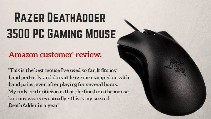 Razer DeathAdder 3500 PC Gaming Mouse