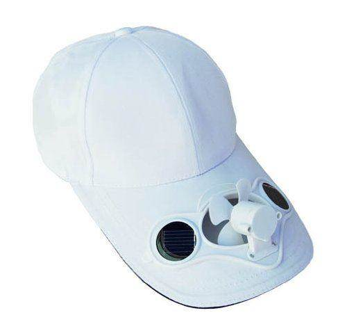 Solaration® 7001 White Fan Baseball Golf Hat