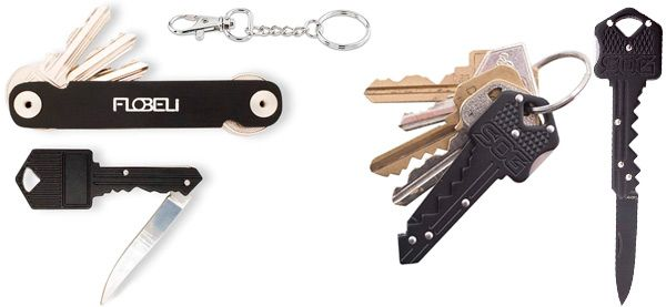 Key organizer with a knife: photo