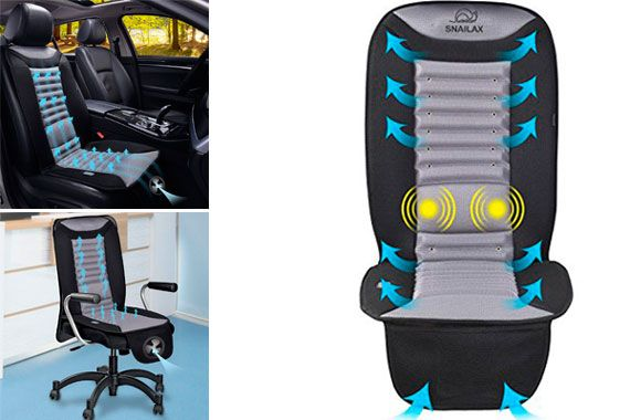 SNAILAX Cooling Car Seat Cushion With Massage