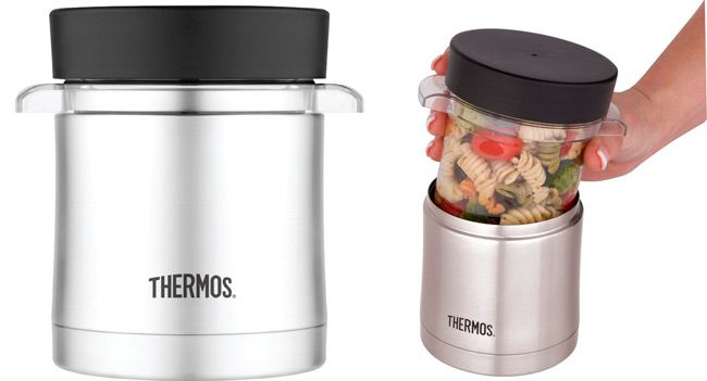 Thermos with Microwavable Container: photo