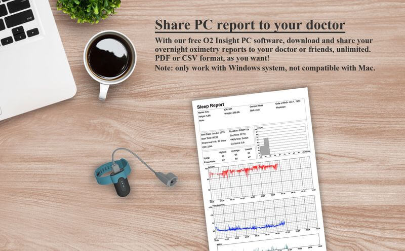 SleepU oxygen PC report