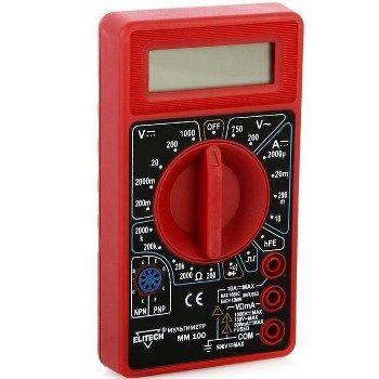 Мультиметр ELITECH ММ 100: фото