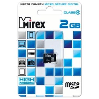 Карта памяти Mirex microSD Class 4 2GB: фото