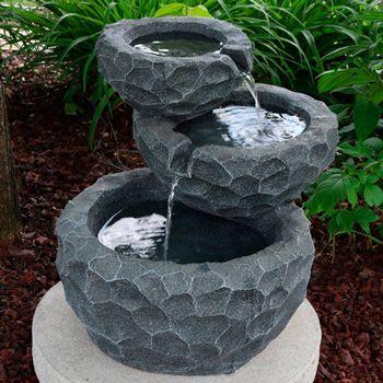 CHOOSEandBUY Outdoor Solar Fountain Bird Bath in Fade Resistant Resin with Solar Pump New Good Elegant Classic Sturdy