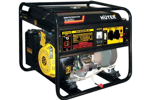 Бензиновый генератор Huter DY6500LX: фото