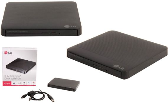 External CD/DVD Drive from LG Electronics: photo