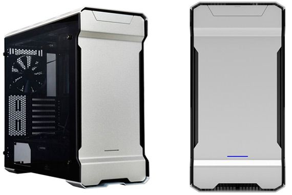 Silver Aluminum Gaming Micro ATX Case: photo