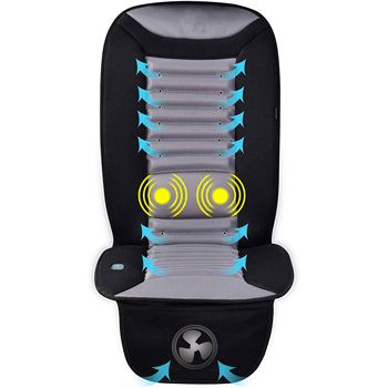 Wood Bead Car Seat Cover Cushion Automotive Beaded Driver Seat Massager Cushion for Lower Back Pain Cooling /& Breathing