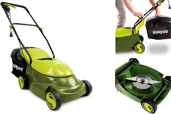 Compact Self-Propelled Lawn Mower Sun Joe: photo