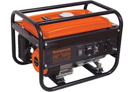 Бензиновый генератор udarnik ubg 3000: фото