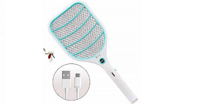 3X Elektrische Fliegenklatsche Insektenvernichter Insekten Mörder Mückenklatsche