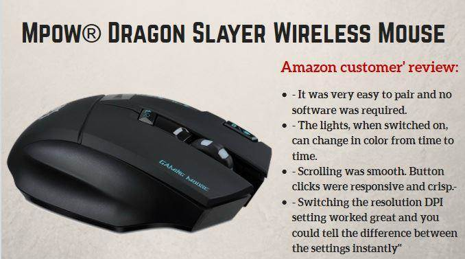 Mpow® Dragon Slayer Wireless Gaming Mouse