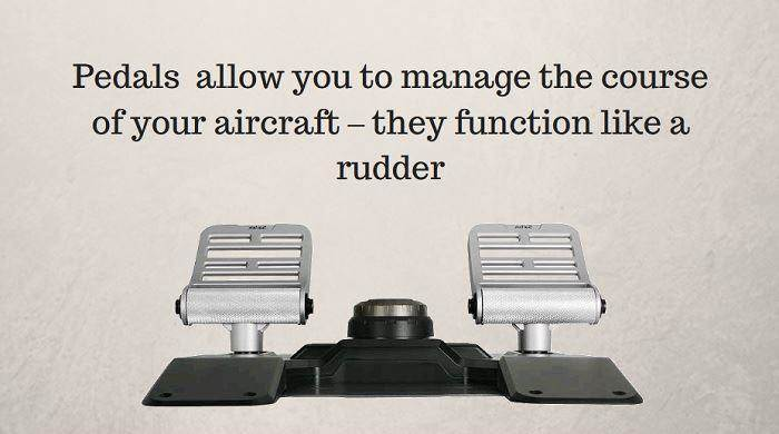 Rudder pedals for flight simulators