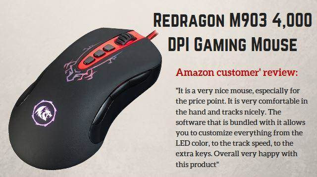 Redragon M903 4,000 DPI Gaming Mouse