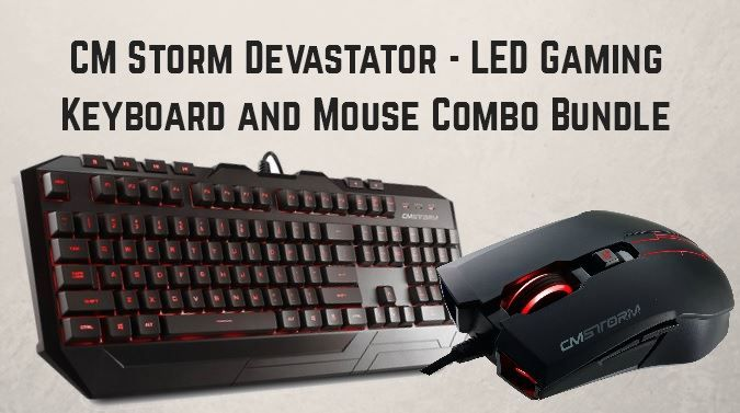 CM Storm Devastator - LED Gaming Keyboard and Mouse Combo Bundle