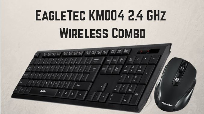 EagleTec KM004 2.4 GHz Wireless Combo