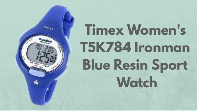 женские часы Timex Women's T5K784 Ironman Blue