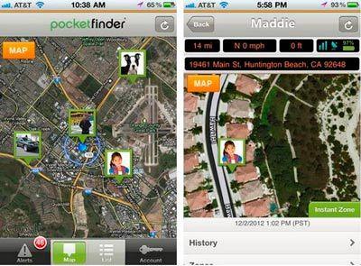 Pocket Finder трекер для детей: фото