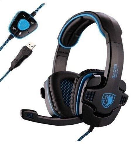 Sades Stereo 7.1 Surround Pro USB Gaming Headset