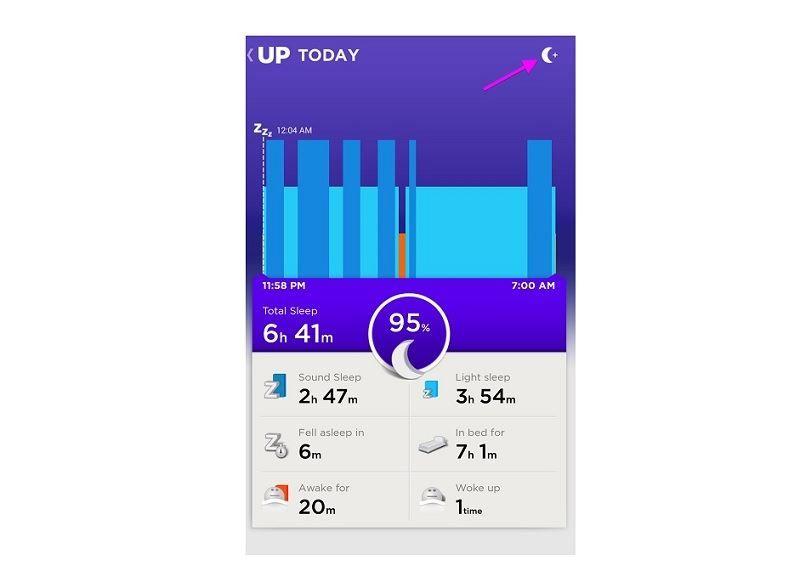 мониторинг сна трекер jawbone up