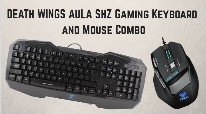DEATH WINGS AULA SHZ Gaming Keyboard and Mouse Combo