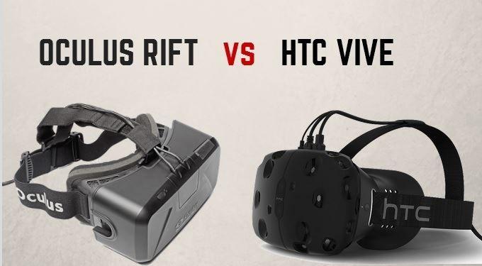 шлем Oculus Rift против HTC Vive