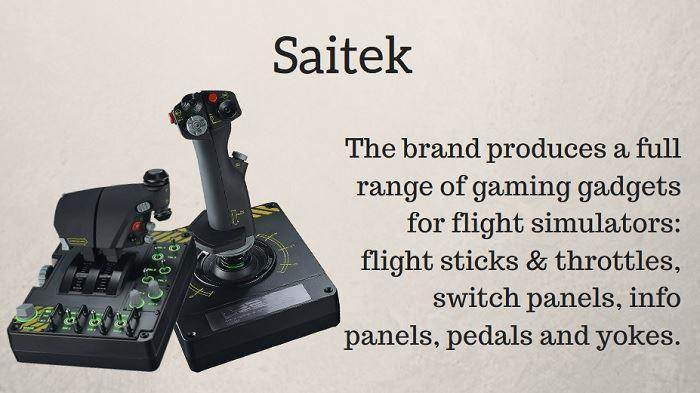 Saitek X52 flight joystick