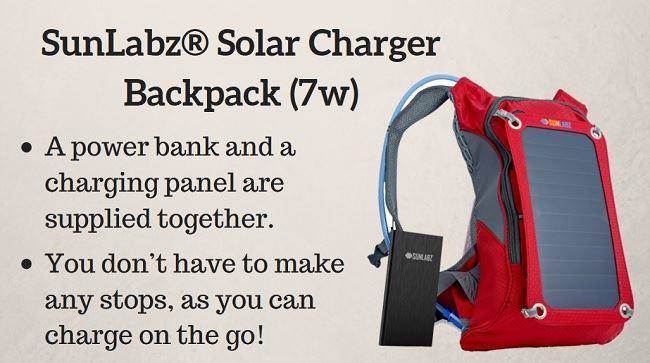 best solar charger backpack