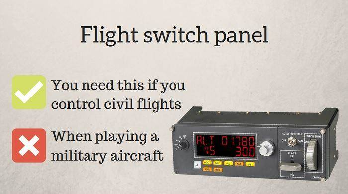 flight switch panel
