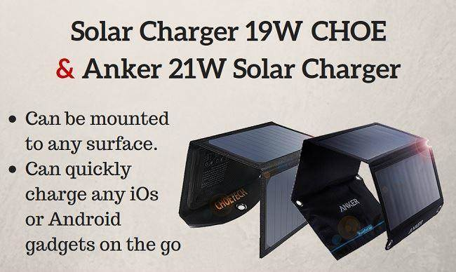 best universal portable solar chargers