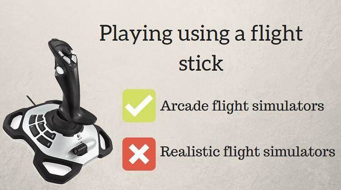 flight stick for simulators